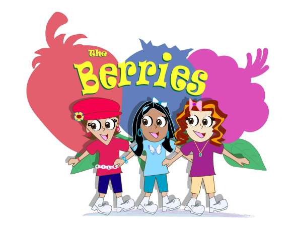 Created cartoon animated characters for a children's production, 'The Berries'